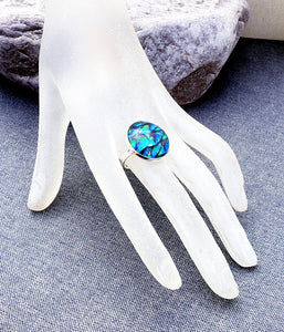 Peacock Cabochon Adjustable Ring