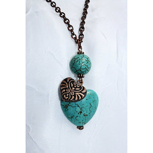 Boho Hearts Pendant Necklace