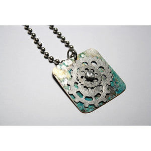 Steampunk Men's Dog Tag Necklace