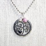 Mom's Family Tree Pendant Necklace