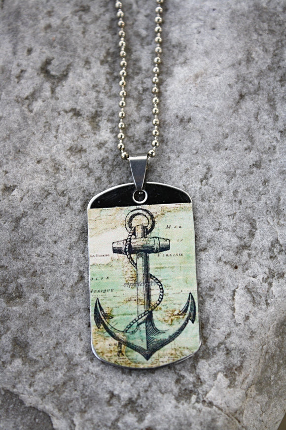 Nautical Sailor's Dog Tag