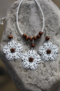 Filigree Flower Jewellery Set