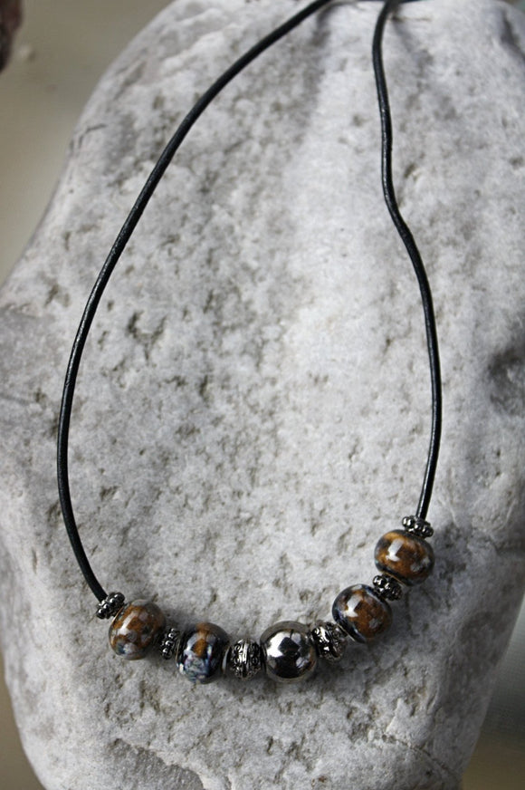 Sand & Surf Leather Necklace