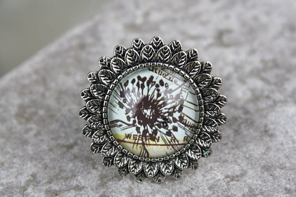 Dandelion-Sunflower Adjustable Ring