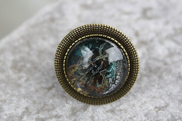 Crackled Patina Adjustable Ring