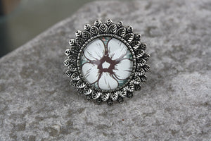 Pansy-Sunflower Adjustable Ring
