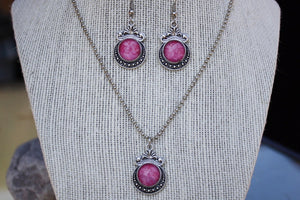 Pretty in Pink Pendant Necklace Set
