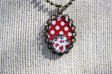 Polkadots & Cherries Pendant Necklace Set