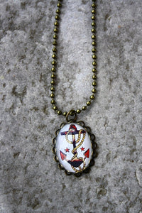 Sailor Jerry inspired Anchor Pendant Necklace