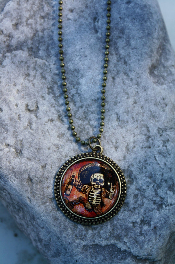 Skeleton Fiesta Pendant Necklace