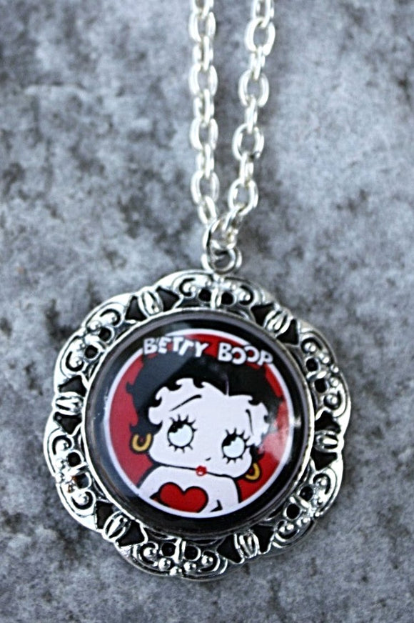 Betty Boop Pendant Necklace