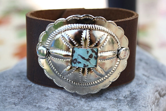 Country Girl Leather Cuff Bracelet