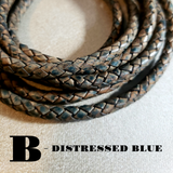 Rustic Anchor Braided Leather Bracelet