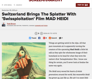 SCREENANARCHY: Switzerland Brings The Splatter With 'Swissploitation' Film MAD HEIDI