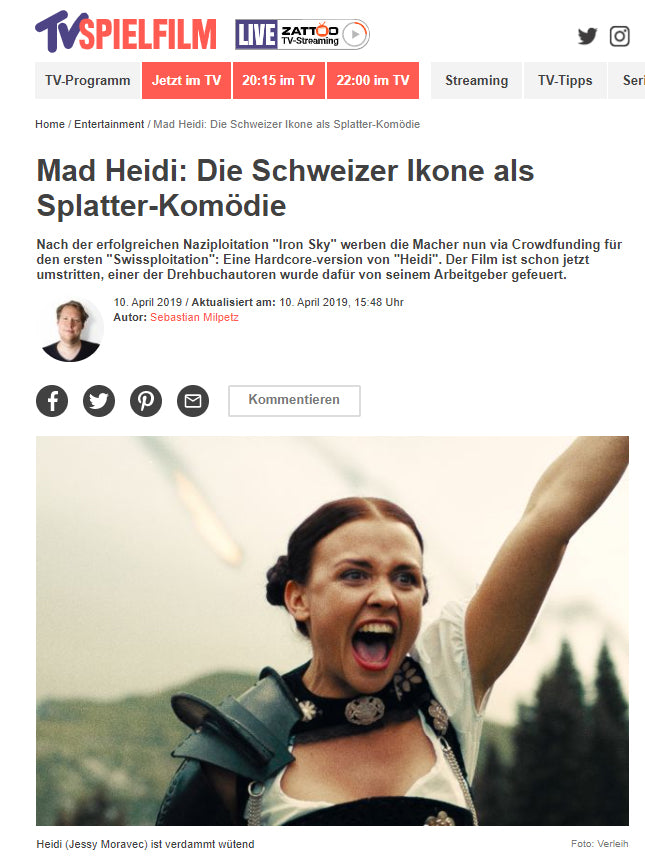 TV SPIELFILM: Mad Heidi: The Swiss Icon As a Splatter Comedy