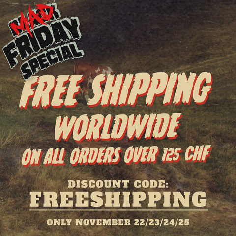 Discount code FREESHIPPING for free shipping worldwide