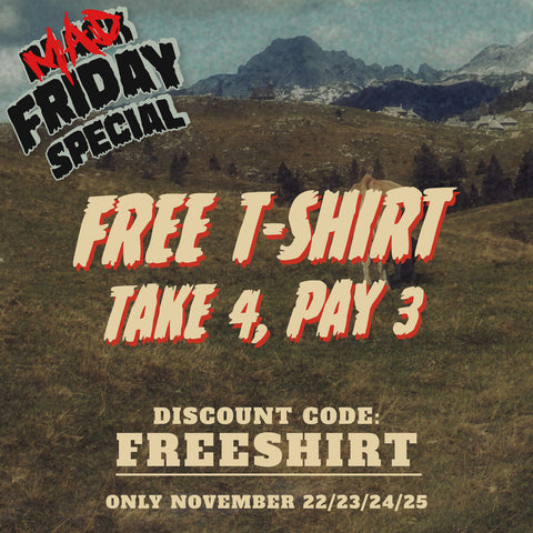 Get a FREE shirt with code FREESHIRT