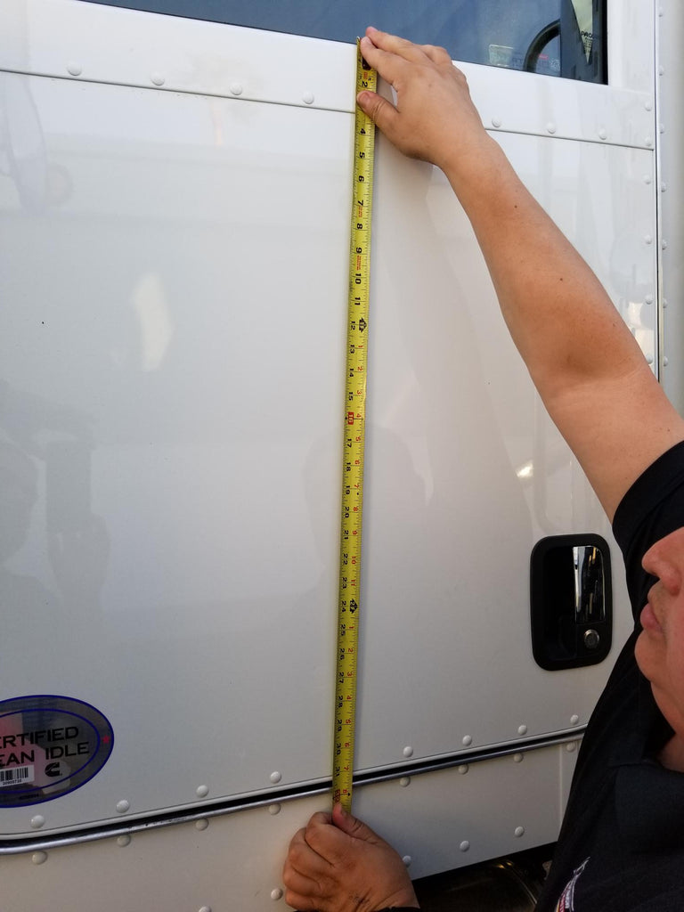 Measuring Your Truck Doors for Semi Truck Door Lettering