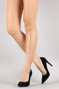 Delicious Nubuck Pointy Toe Stiletto Pump
