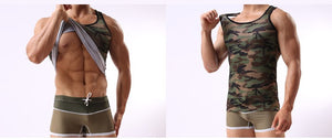 Tank Top Men Bodybuilding 2018 Camouflage Clothing Fitness Crossfit Muscle Military