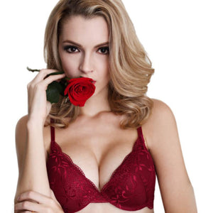Women Underwear Sexy Push Up Lace Floral Bra Set Embroidery Underwear Attractive Designed