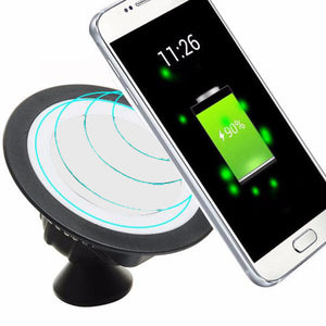 Qi Wireless Charger Pad Dock 360 Rotating Mount Car Holder Charging Pad For Cell Phone