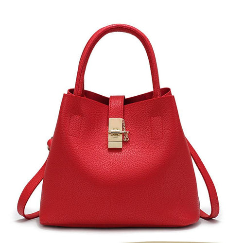 Women Bag Soft PU Leather Bucket tote bags