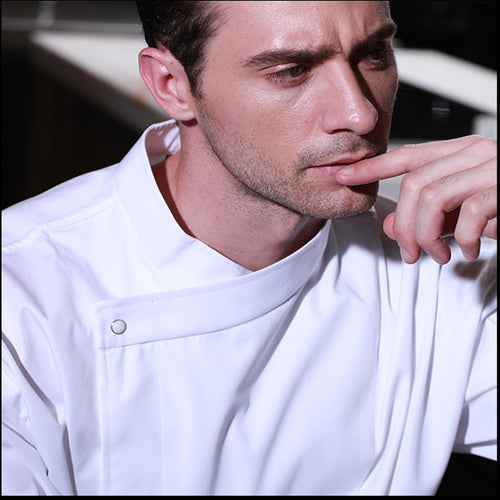 Long-sleeved chef service hotel restaurant male autumn and winter chef clothing kitchen clothes chef uniforms white black apron