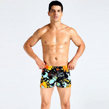Mens Swimming Trunks Shorts Wear Front Tie Printed Pants Swimsuit