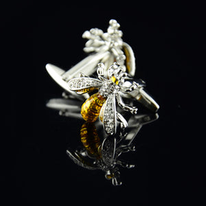 Mens Bee Exquisite high Wedding Party Gift Cuff Link Cufflinks