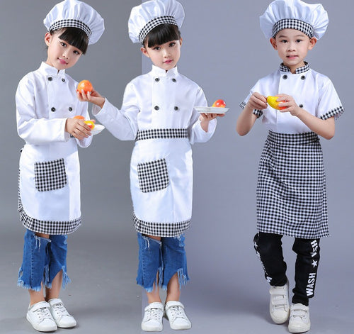 Girls Boy Halloween Cosplay Costume Chef Uniform Cooking Clothing Child Kitchen Wear Clothes 89