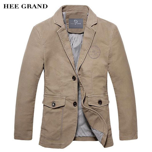 Men Casual Blazer100% Cotton Material Single Breasted Solid Color Design