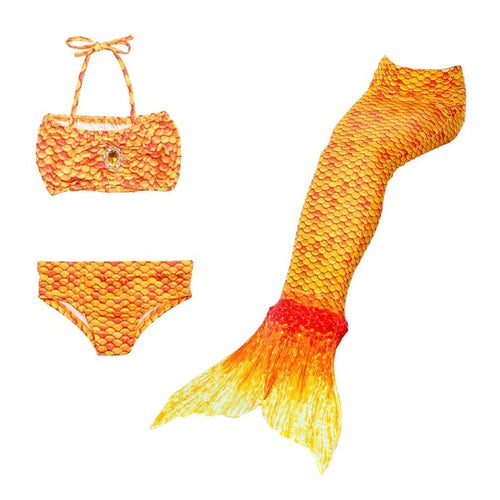 3pcs Baby Children Lovely Bikini set Girls Mermaid Tails Swimwear Halloween