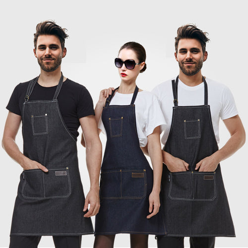 kitchen Denim for cooking apron Antifouling Uniform Chef