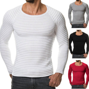 Men's Muscle T Shirts Crossfit Tee Top Long Sleeves Crew Neck Men Tees Shirt