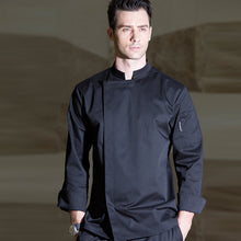 New long - sleeved autumn winter hotel kitchen Cooking uniforms men and women aprons chef clothes overalls