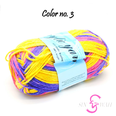 Sin Wah Online - Mix Colour Acrylic Knitting Yarns