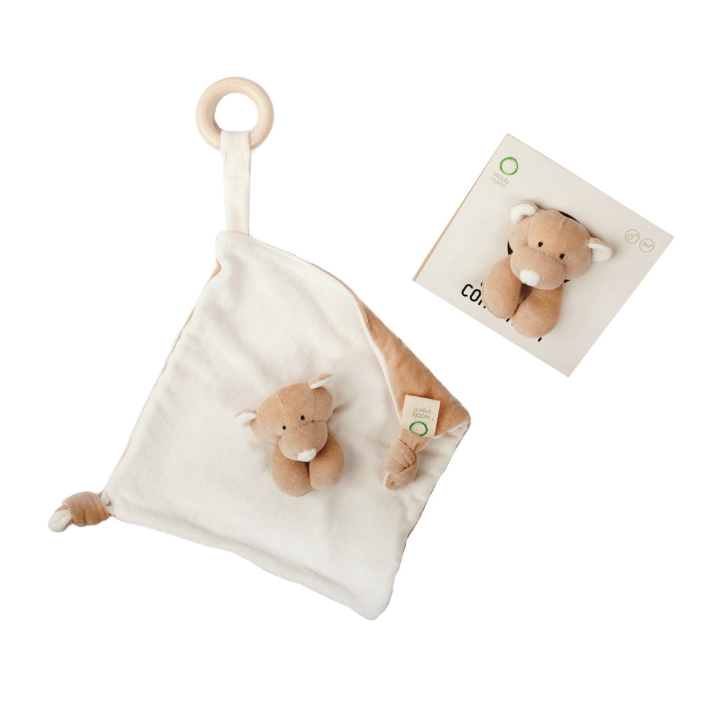 Organic comforter with teether TEDDY