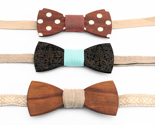 Wooden bow tie ROYAL