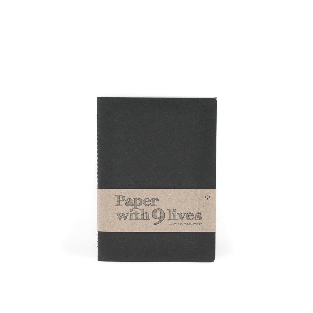 Recycled notebook set BLACK
