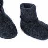 Merino wool booties ANTHRACITE