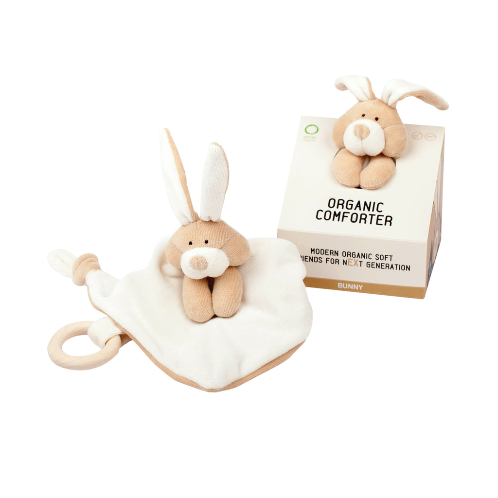 Organic comforter with teether BUNNY