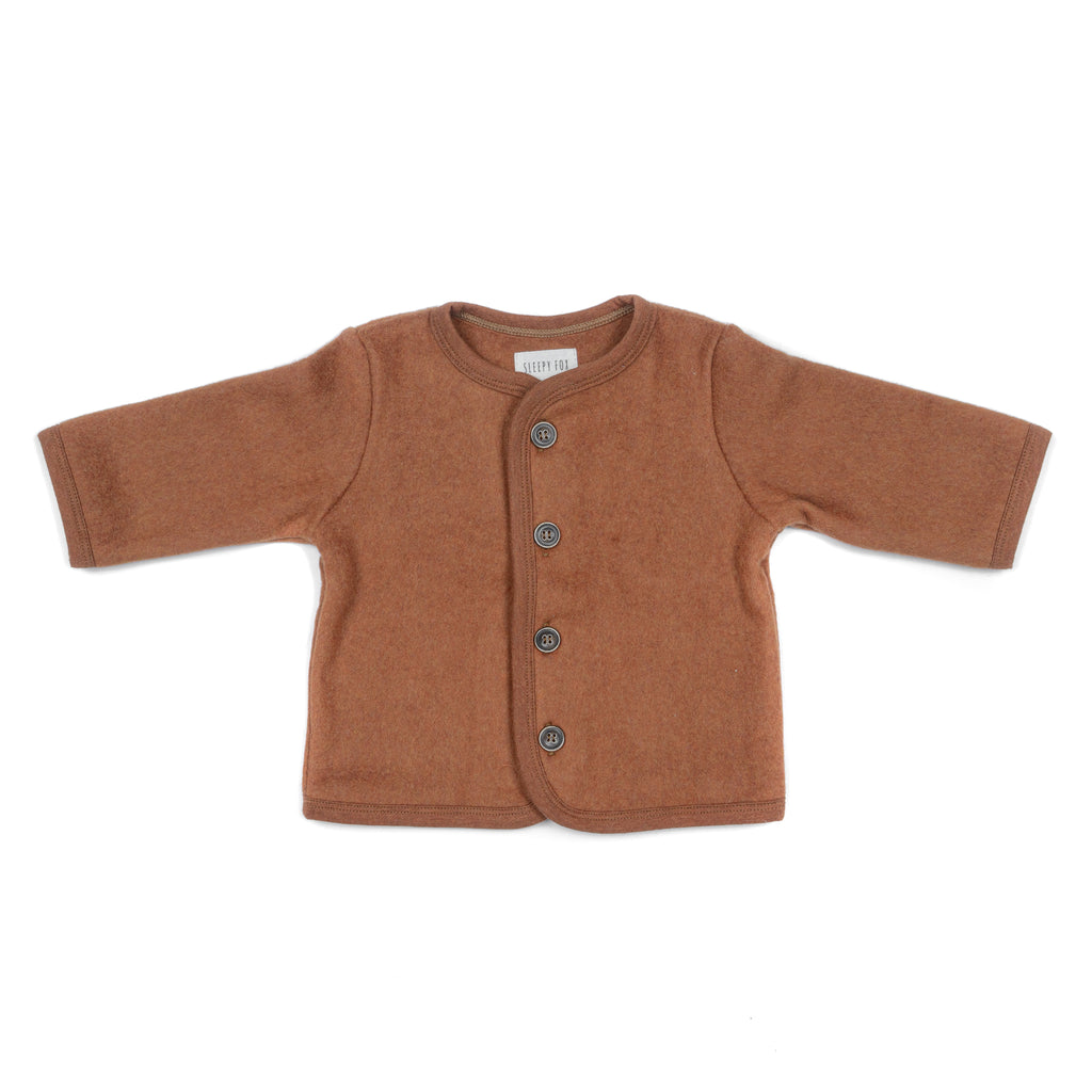 Fleece cardigan COPPER