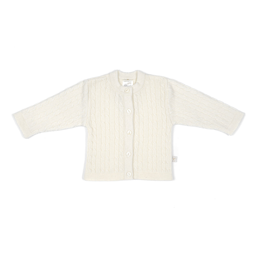 Merino wool baby cardigan CREAM