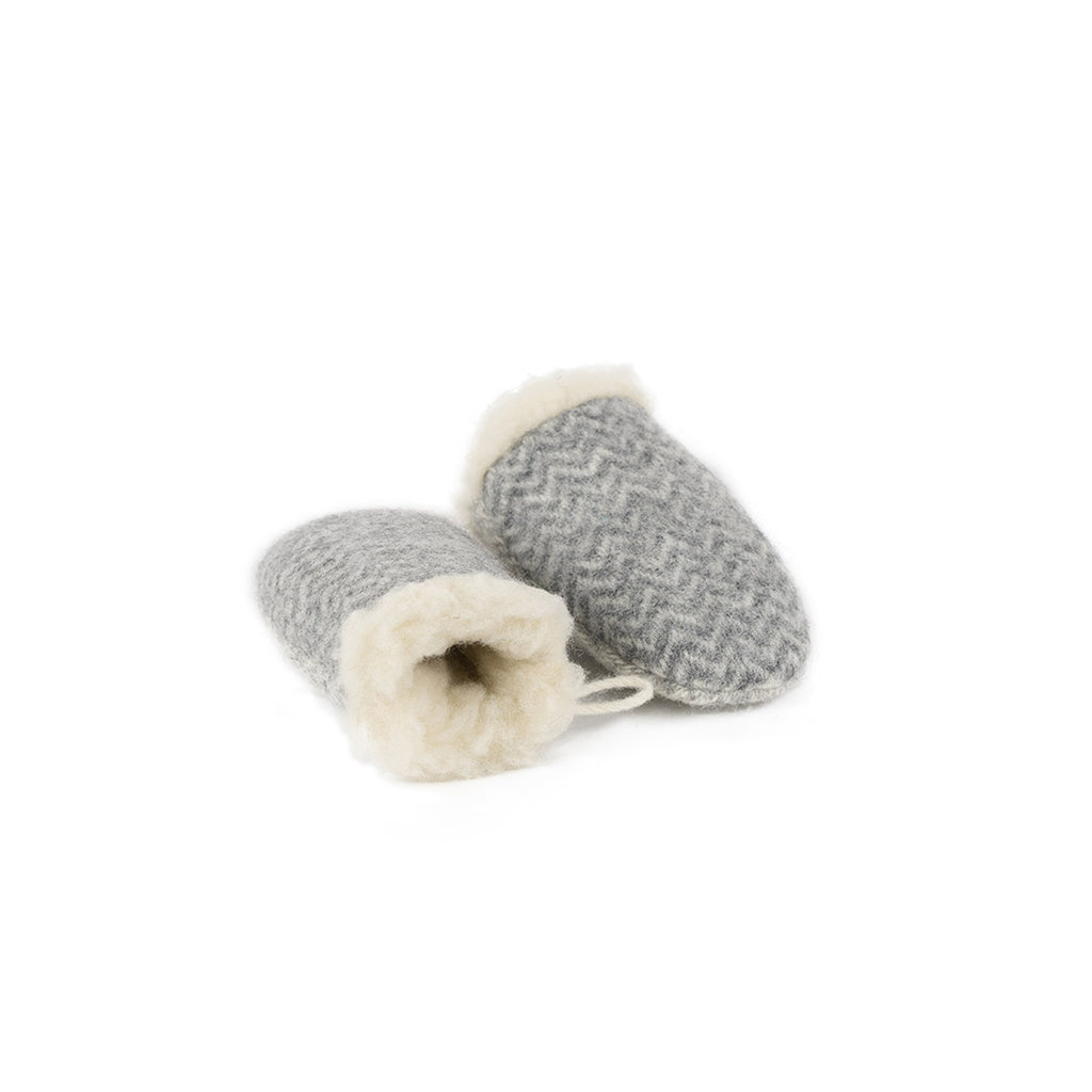 Wool mittens GREY