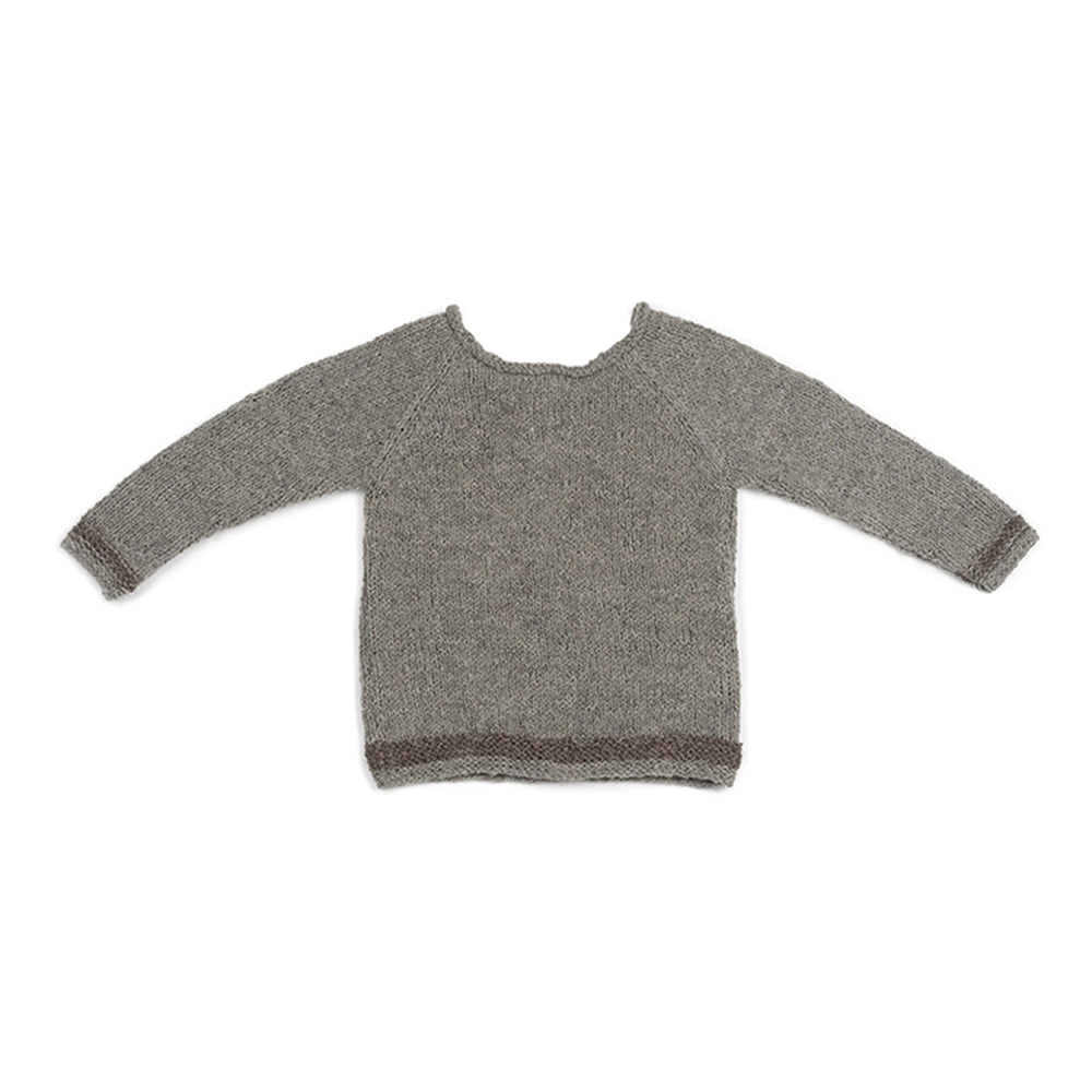 Wool jumper with socks GREY