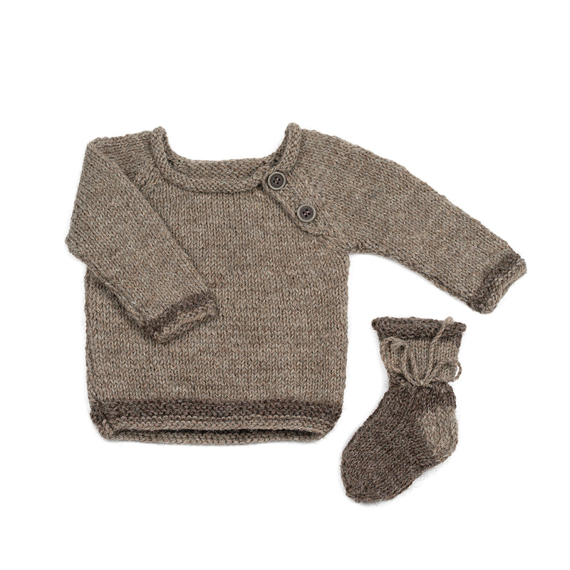 Wool jumper BROWN