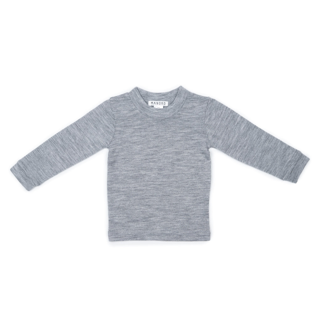 Merino wool top GREY
