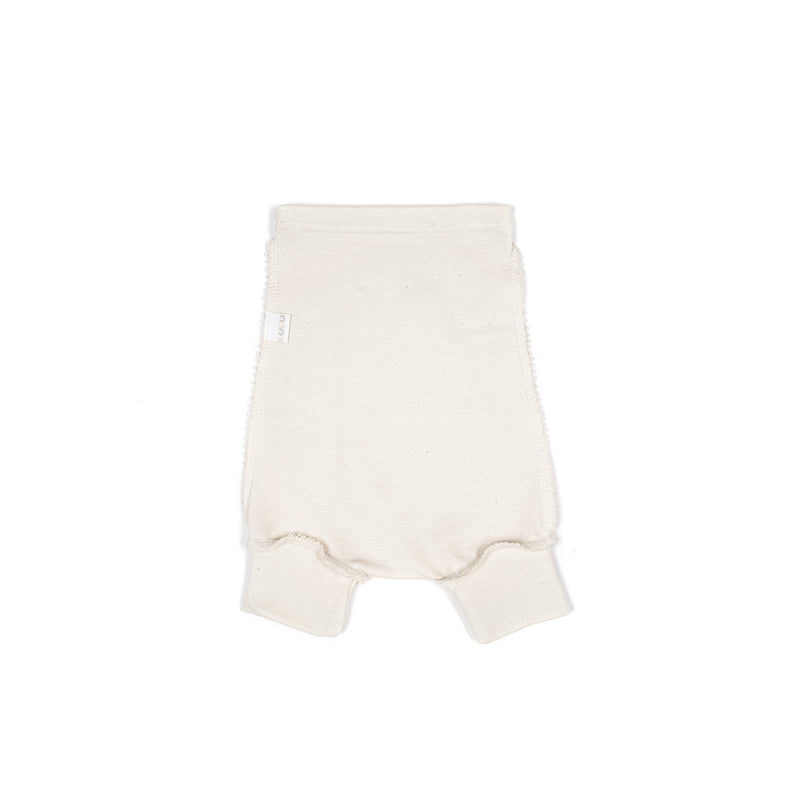 Organic cotton diaper pants ECRU