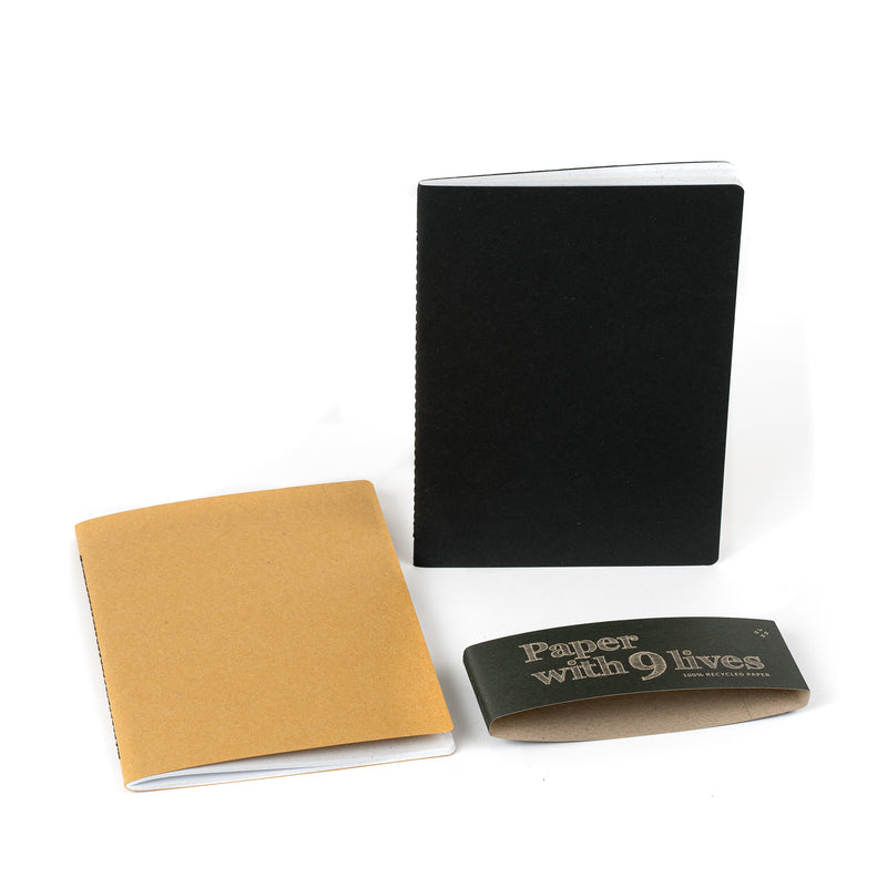 Recycled notebook set YELLOW